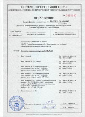 Сертификат Кзв Бр3 500 Стр2