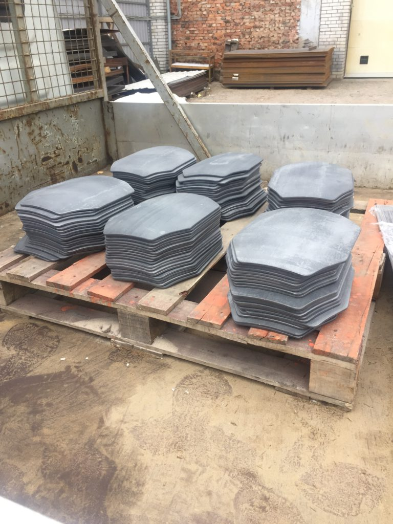 Стальные бронированные пластины бронежилетов